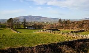 Irish farm at border