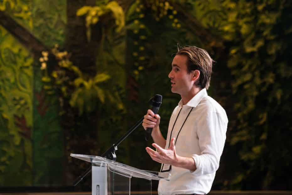 David Wallace-Wells speaks at the International Congress of Youth Voices