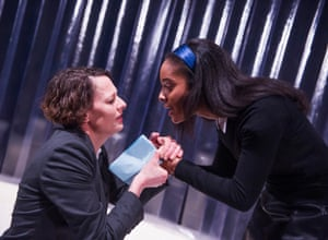 Rebecca Crankshaw and India Semper-Hughes in a 2016 Old Red Lion production of Thomas Kyd's 16th-century play The Spanish Tragedy, a proto-detective story.