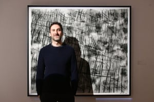 Idris Khan with his piece Numbers