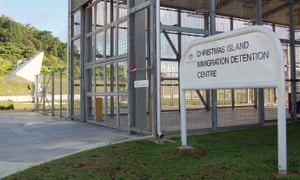 The entrance to the Christmas Island detention centre
