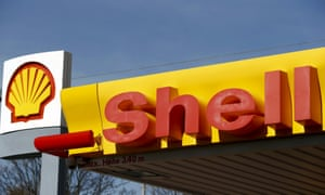 Shell's company logo at a gas station in Zurich