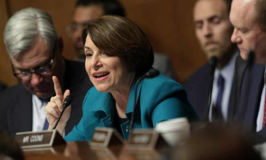 Amy Klobuchar sits on the Senate judiciary committee, one of numerous committee assignments.