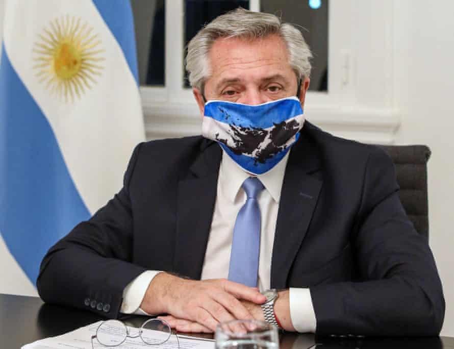 President Alberto Fernández of Argentina has gone into voluntary isolation.