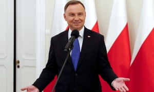 Polish president and presidential candidate of the Law and Justice (PiS) party Andrzej Duda