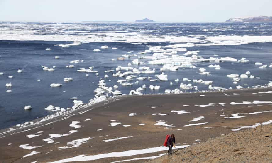 Prospecting for fossils on Antarctica