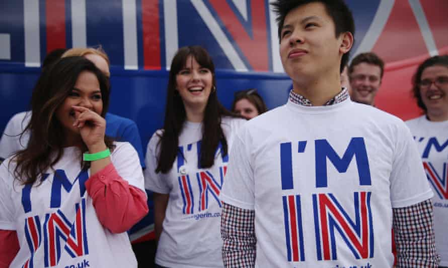 Exeter university students campaigning for the remain campaign