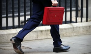 George Osborne with his ministerial red box before the budget