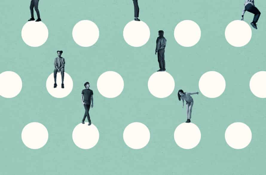 Graphic with dots and people