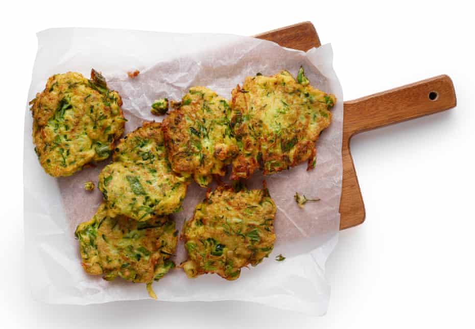 Felicity Cloake's courgette fritters.