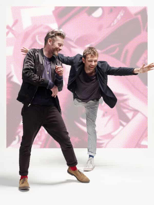 'I may fall out with a lot of people, but I've also managed to reconcile with a lot of people': Damon Albarn, right, with Jamie Hewlett.