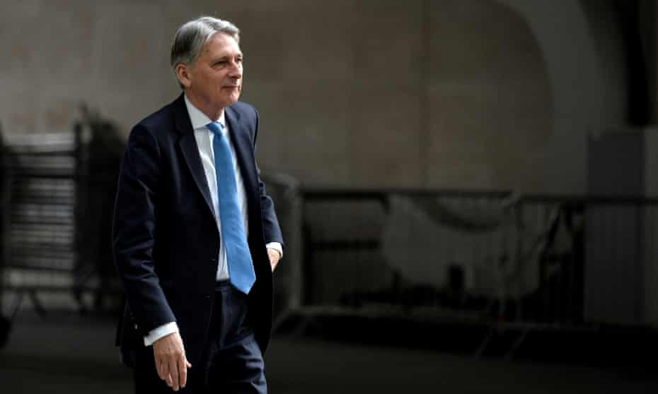 Philip Hammond arrives at BBC to appear on Andrew Marr Show