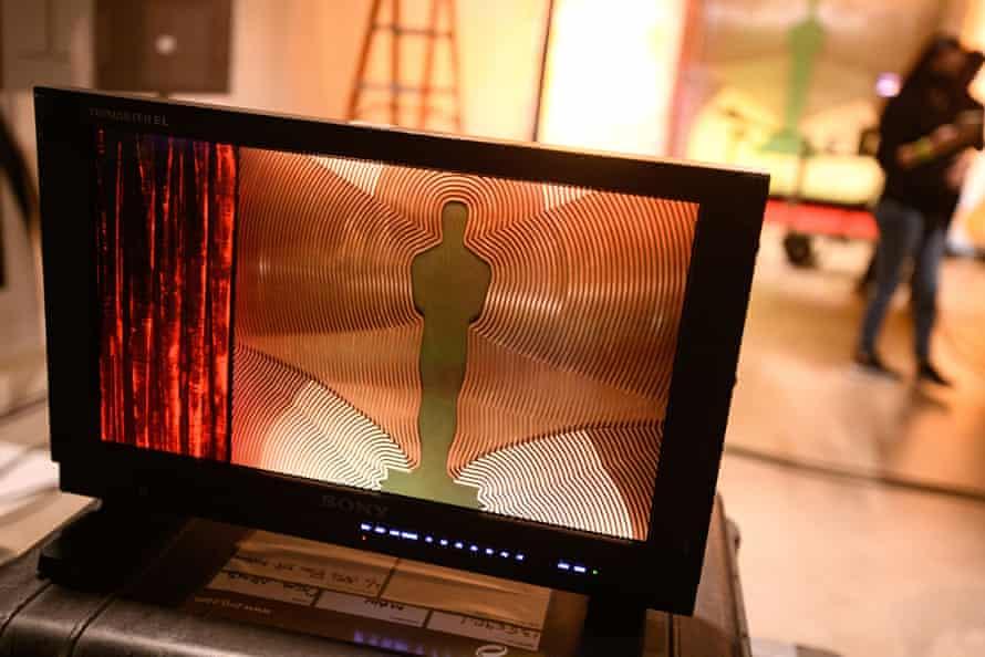 A screen on an Oscars set