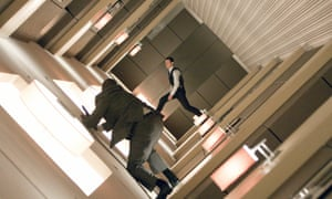 The world turned turned upside down ... a still from the movie Inception.