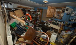 A very cluttered room