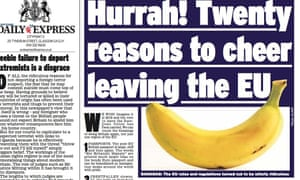 Another Daily Express bendy banana story.