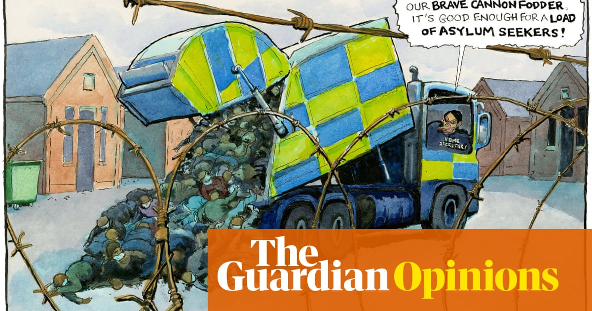 Steve Bell on Priti Patel and the high court ruling on Napier barracks – cartoon