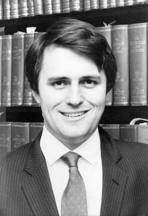 Malcolm Turnbull as a 26-year-old Rhodes scholar.