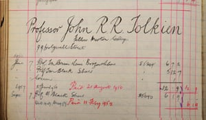 A ledger entry reveals another purchase by JRR Tolkien, when he was a fellow at Merton College.