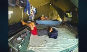 Tents on Nauru island