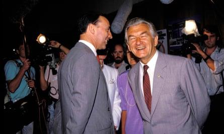 Paul Keating and Bob Hawke