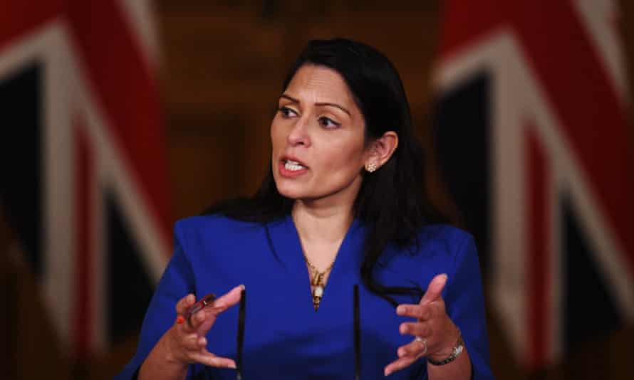 UK home secretary, Priti Patel.