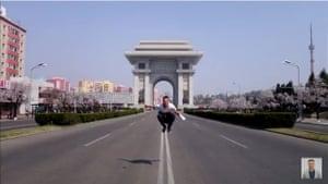 Screengrab from Laukaitis' North Korea video.