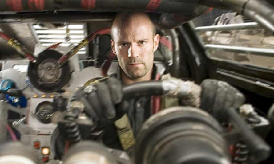 Convincingly glum ... Statham in Death Race.