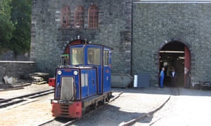 Pulling power … a former slate railway engine at the National Slate Museum