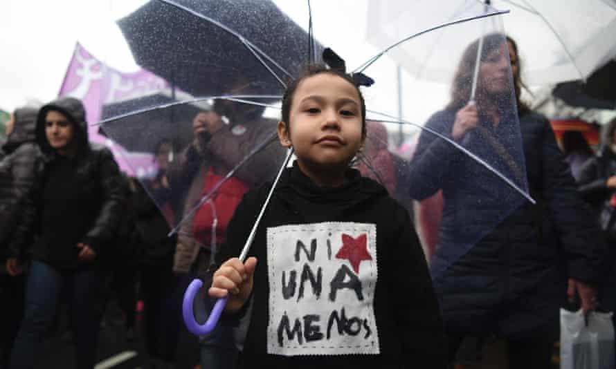 Women protest against violence against women in Mar del Plata.