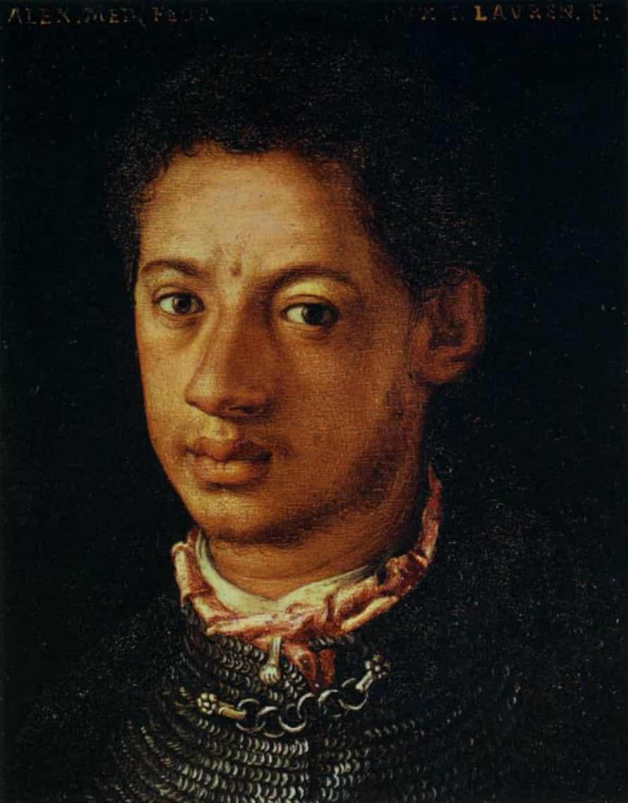 Portrait of Alessandro de' Medici by Agnolo Bronzino.