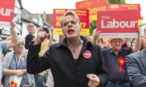 Eddie Izzard campaigning for Labour in the run-up to the June general election.