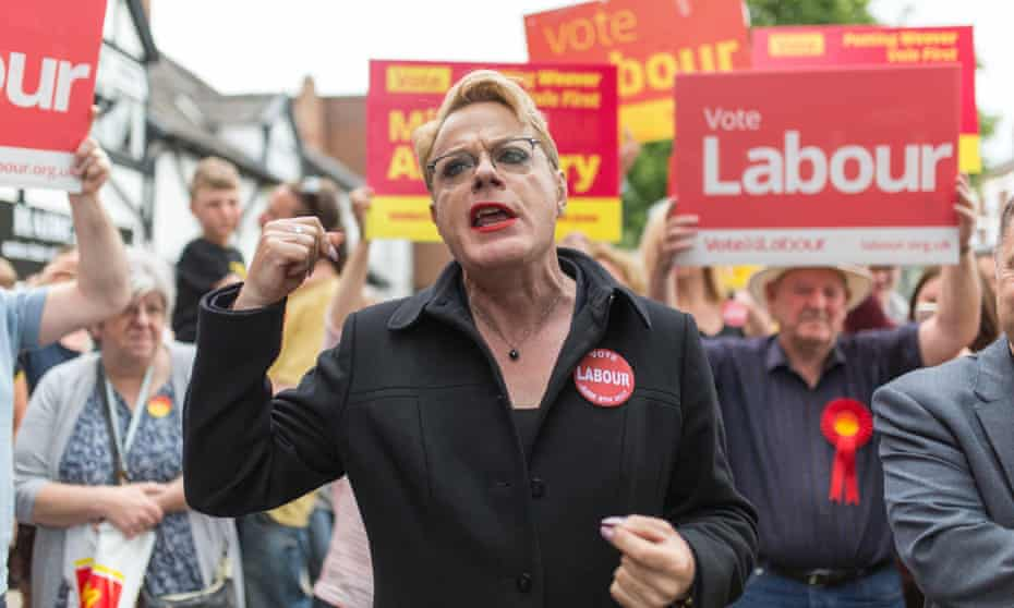 Ambition … though unsuccessful, Eddie Izzard was seen as viable candidate for UK office.