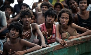 This boat crammed with scores of Rohingya refugees was found drifting in Thai waters in May 2015.