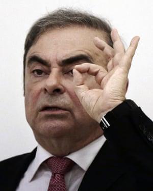 Nissan's former chairman Carlos Ghosn.