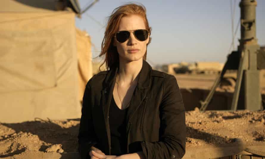 War games ... Jessica Chastain in Zero Dark Thirty.