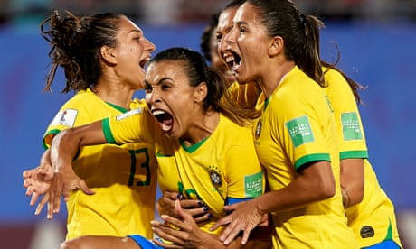 Marta breaks Klose's World Cup record to send Brazil through with Italy