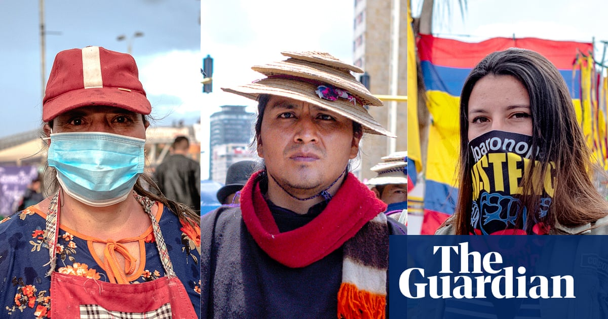 'This is a revolution': the faces of Colombia's protests