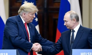 Donald Trump meets Vladimir Putin in Helsinki