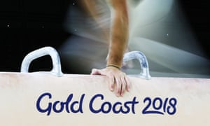 An athlete trains on a pommel horse ahead of the 2018 Commonwealth Games