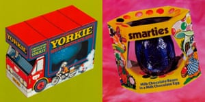Images of Easter eggs from decades gone by that do not use the word Easter on their packaging.