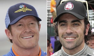 Scott Dixon (left) and Dario Franchitti were unharmed after the robbery. Dixon's wife, Emma, was also present