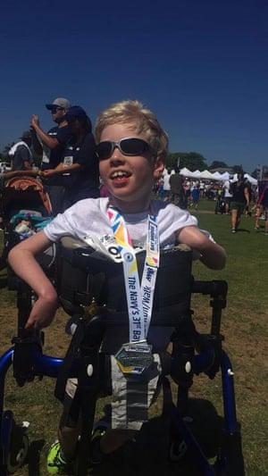 Gavin after the 2017 Bay Bridge Run/Walk in Coronado, California.