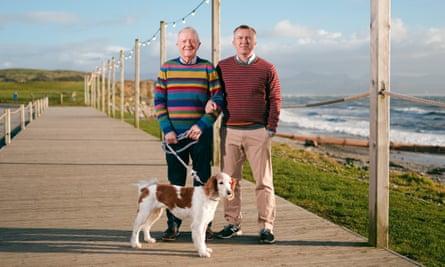 Peter Harlech Jones in Criccieth with his partner Mike.