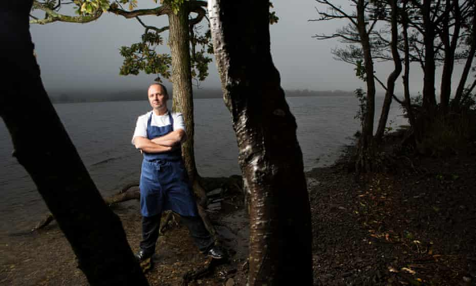 Simon Rogan, chef at L'Enclume, which won the No 1 spot in 2020, by Coniston Water in the Lake District.