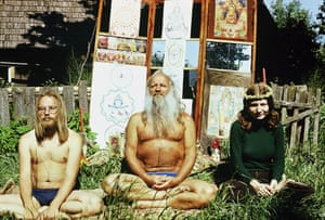 Mihkel Ram Tamm, centre, was a guru for Soviet hippies in Estonia and elsewhere.