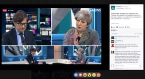 A Facebook Live broadcast hosted by ITV News with Theresa May