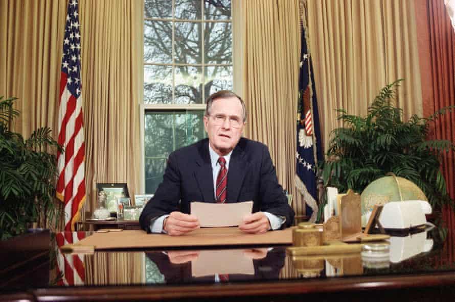 George H W Bush, 1989.