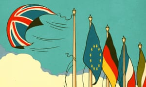 Illustration of European flags by Robert G Fresson
