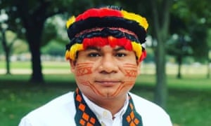 Amazon-based indigenous leader Tuntiak Katan